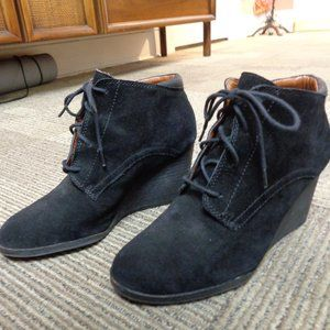 Lucky Brand Suede Black Wedges